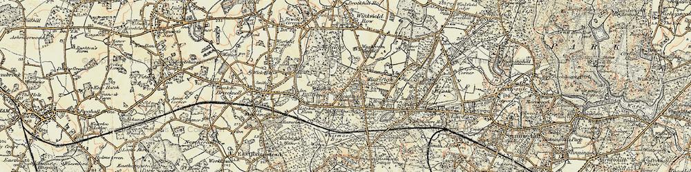 Old map of Whitmoor Bog in 1897-1909