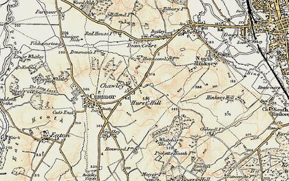 Old map of Whitebarn in 1897-1899