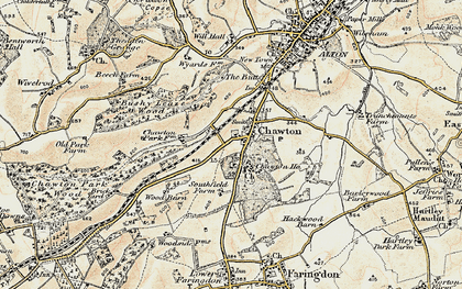 Old map of Chawton in 1897-1900