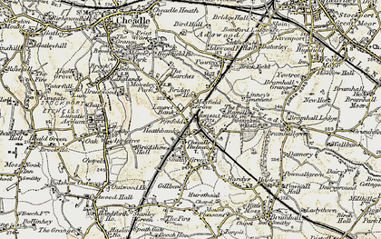 Old map of Cheadle Hulme in 1903