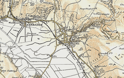 Old map of Cheddar in 1899-1900