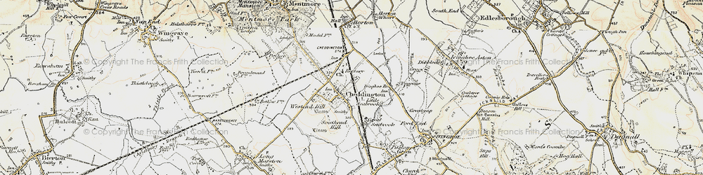 Old map of Westend Hill in 1898-1899