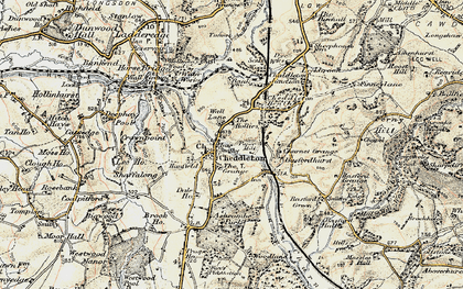 Old map of Ashcombe Park in 1902