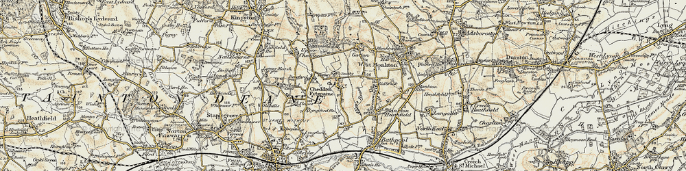 Old map of Allen's Brook in 1898-1900