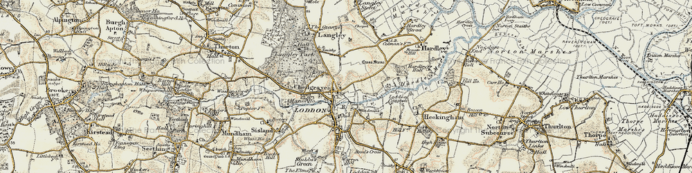 Old map of Langley School in 1901-1902
