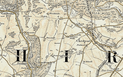 Old map of White Way in 1898-1899