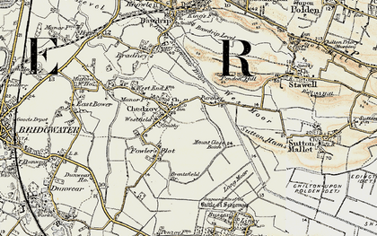 Old map of Chedzoy in 1898-1900