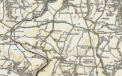 Old map of Yellow Rayes in 1900