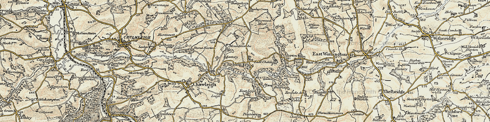 Old map of Winswood Moor in 1899-1900