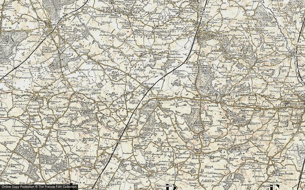 Old Map of Historic Map covering Lapwinghall in 1902-1903