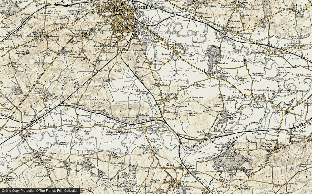 Old Map of Chellaston, 1902-1903 in 1902-1903