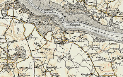 Old map of Pin Mill in 1898-1901