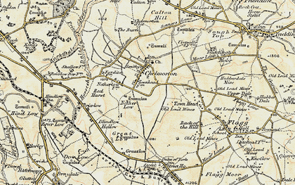 Old map of Chelmorton in 1902-1903