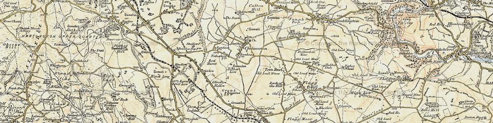 Old map of Chelmorton in 1902-1903