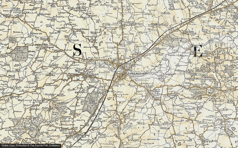 Old Maps of Chelmsford Francis Frith