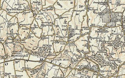 Old map of Leigh Hill in 1898-1900
