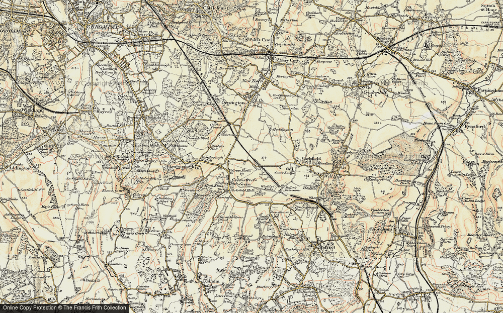 Old Map of Chelsfield, 1897-1902 in 1897-1902