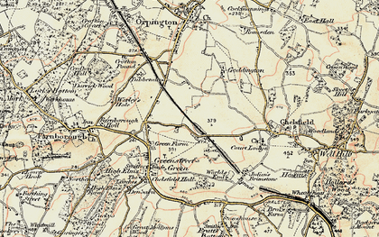 Old map of Chelsfield in 1897-1902