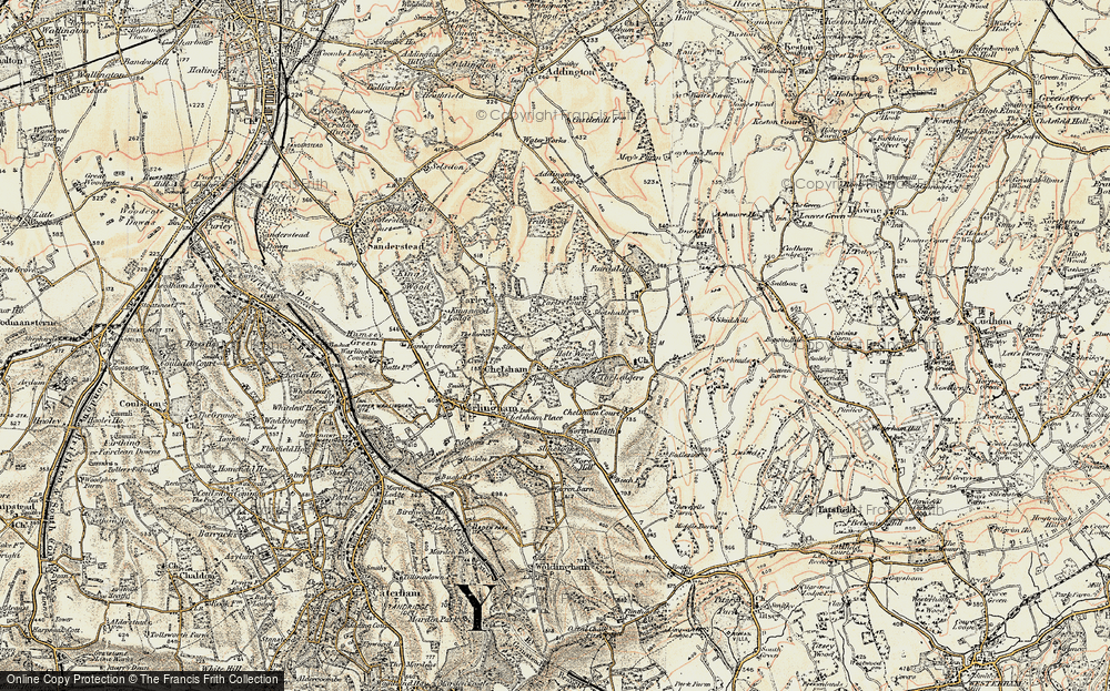 Old Map of Chelsham, 1897-1902 in 1897-1902