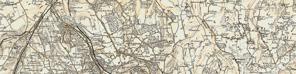 Old map of Chelsham in 1897-1902