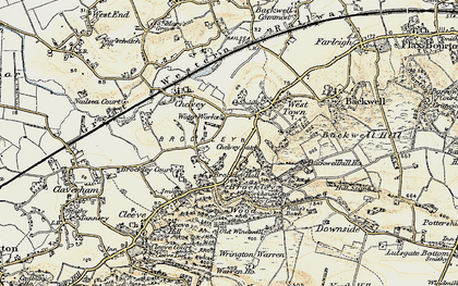Old map of Backwell Hill Ho in 1899