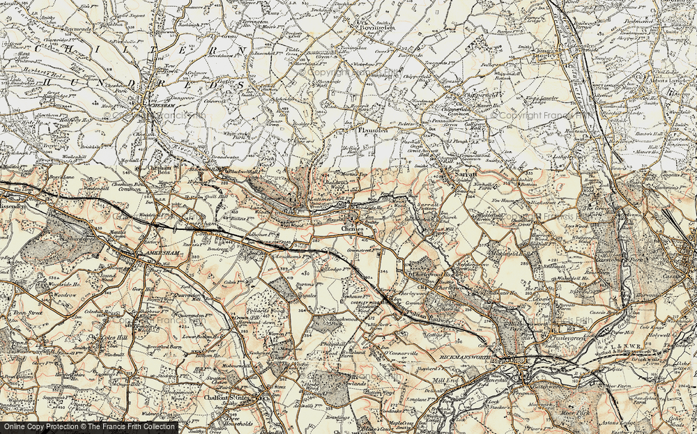 Old Map of Chenies, 1897-1898 in 1897-1898