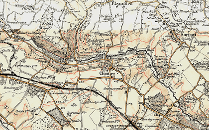 Old map of Chenies in 1897-1898