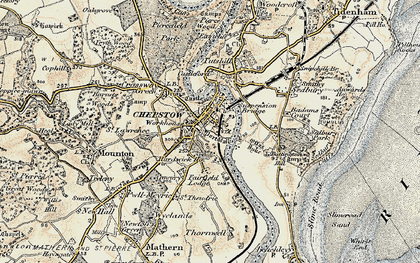 Old map of Chepstow in 1899