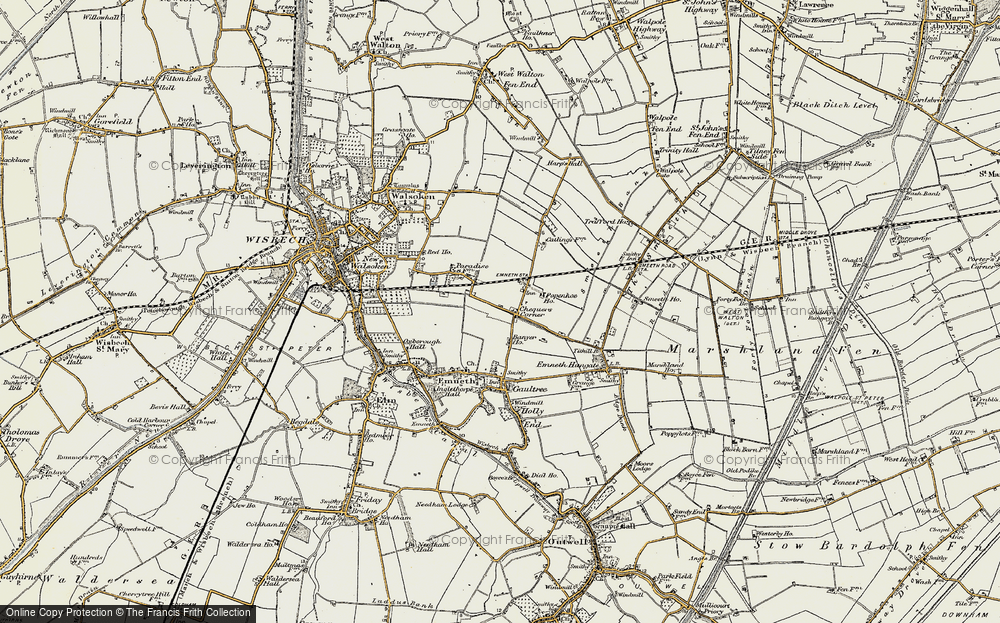 Old Map of Historic Map covering Banyer Hall in 1901-1902