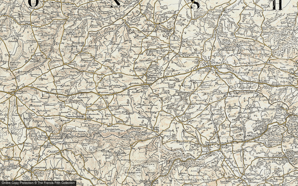 Old Map of Historic Map covering Woodbrooke in 1899-1900