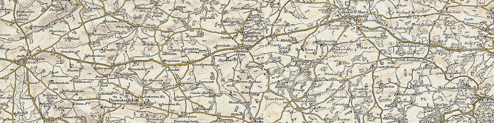 Old map of Wooston Castle in 1899-1900