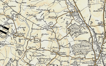 Old map of Cherry Green in 1898-1899