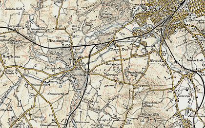 Old map of Cherry Tree in 1903