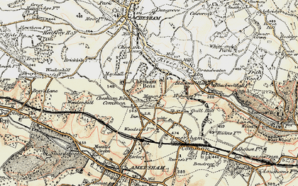 Old map of Chesham Bois in 1897-1898