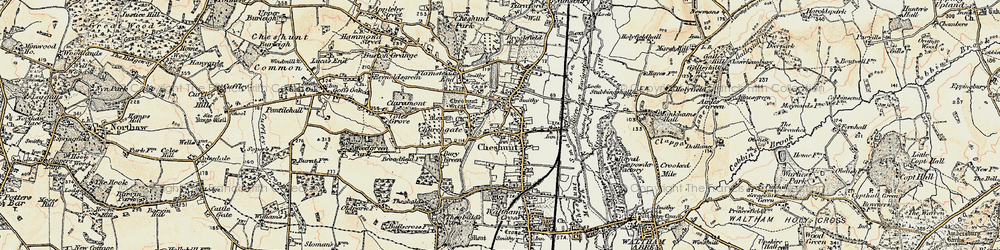 Old map of Cheshunt in 1897-1898