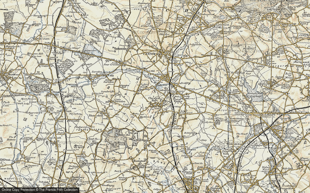 Old Map of Cheslyn Hay, 1902 in 1902