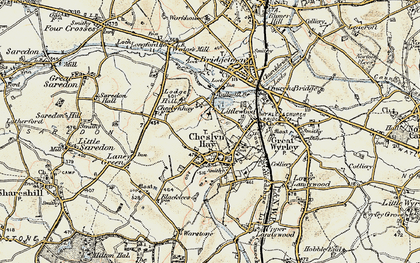 Old map of Cheslyn Hay in 1902