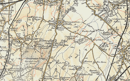 Old map of Chessington in 1897-1909