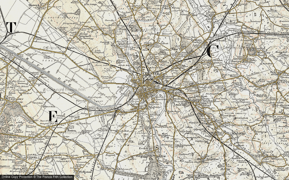Old Map of Chester, 1902-1903 in 1902-1903