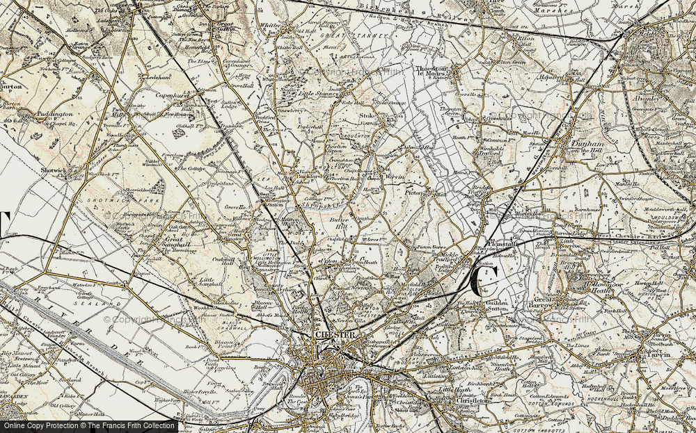 Old Map of Chester Zoo, 1902-1903 in 1902-1903