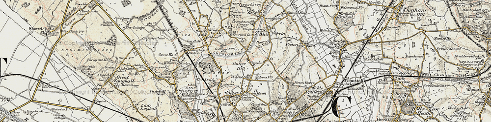 Old map of Chester Zoo in 1902-1903