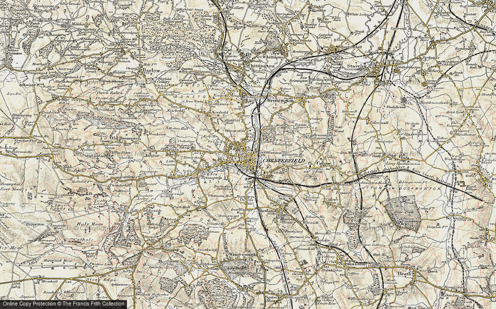 Old Map of Chesterfield, 1902-1903 in 1902-1903