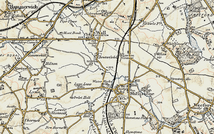 Old map of Letocetum (Roman Town) in 1902