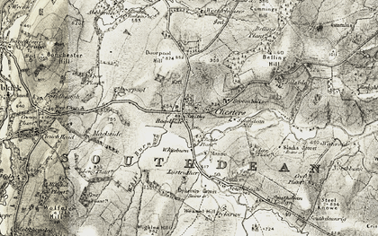 Old map of Westerhouses in 1901-1904