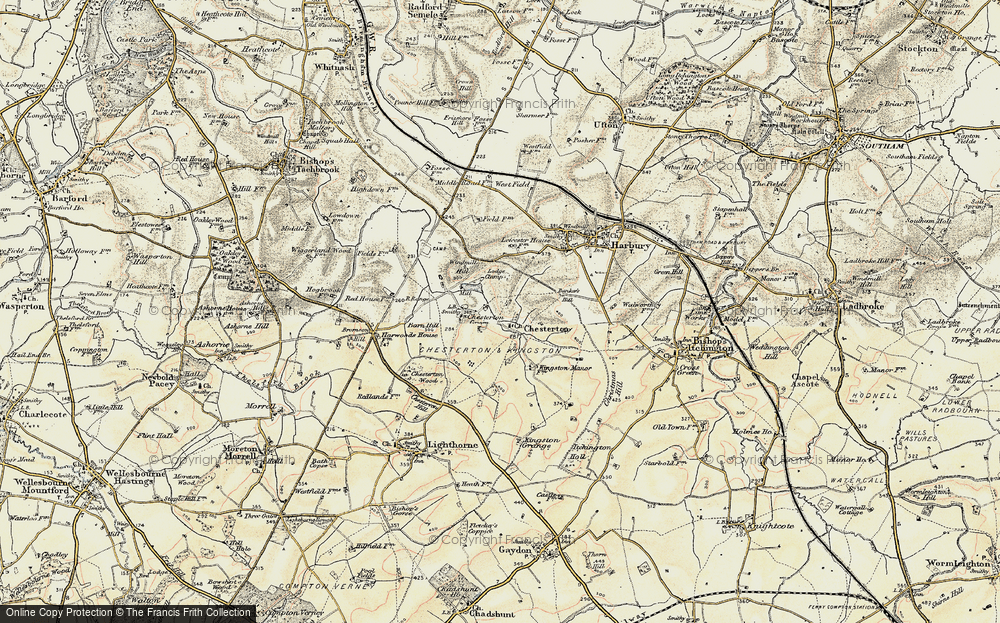 Old Map of Chesterton, 1898-1902 in 1898-1902