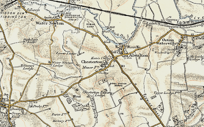 Old map of Chesterton in 1901-1902