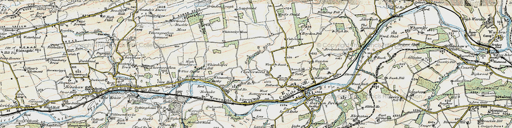 Old map of Westley Bank in 1901-1904