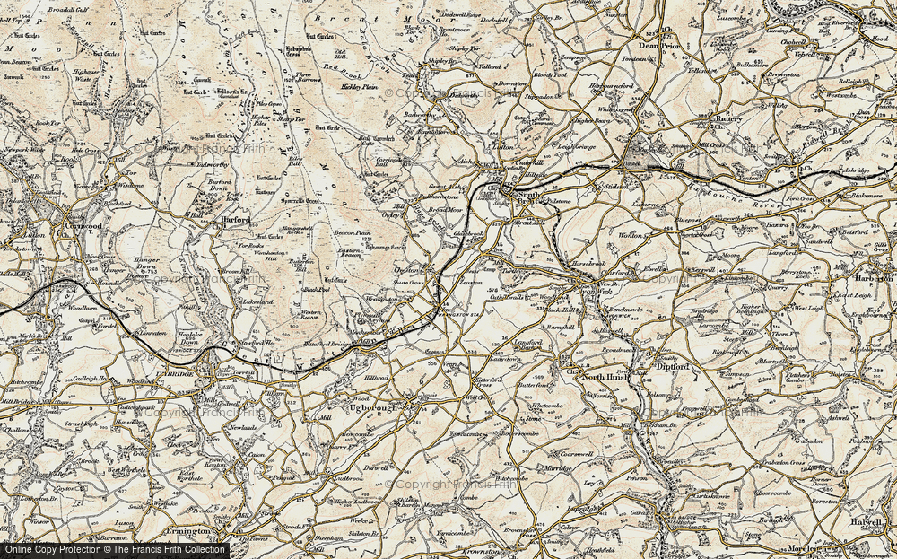 Old Map of Historic Map covering Zeaston in 1899-1900