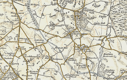Old map of Cheswardine in 1902