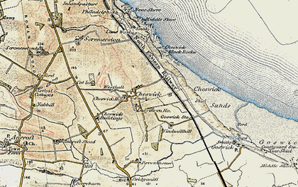 Old map of Windmill Hill in 1901-1903